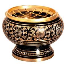 Messing schwarz-gold 6cm Netzgefäss