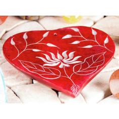 Herz-Lotusblume Specksteinräucherhalter