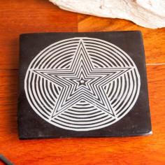 Star-Pentagramm Specksteinräucherhalter