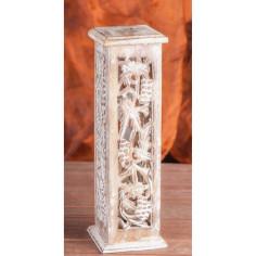 Shrinagar weiß Mangoholz Turmhalter