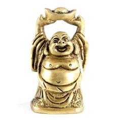 Happy Buddha 5cm Messing mit Händen oben