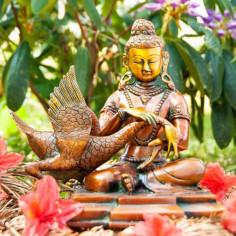 Siddhartha 22,5cm Buddha Messing
