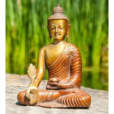 Medizinbuddha 16cm Messing