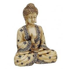 Buddha 16cm Polyresin beige