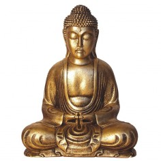 Buddha 31cm Polyresin gold Japan
