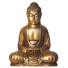 Buddha 31cm Polyresin gold Japan