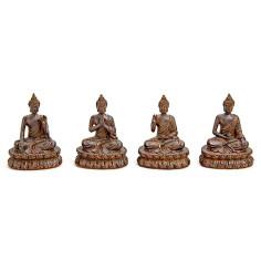 Thai-Buddha 11cm Polyresin 4er Set
