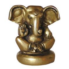 Ganesha 6cm Messing auf Sockel