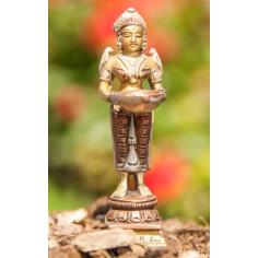 Lakshmi 10,5cm Messing Kupfer-Silber Finsh