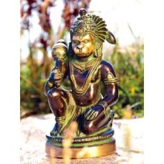 Hanuman 13cm Messing