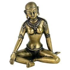 Parvati Statue 15cm Messing