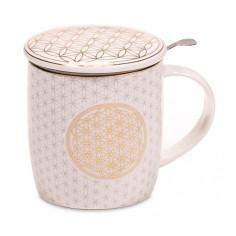 Teetasse Blume des Lebens Set