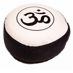 OM Meditationskissen schwarz/crème