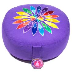 Blume Multicolor Meditationskissen violett