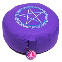Pentagramm Meditationskissen hellblau/violett