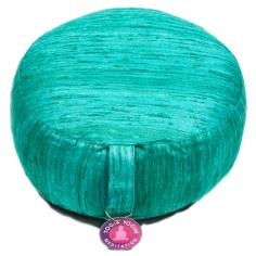 Rohseide Meditationskissen smaragdgrün