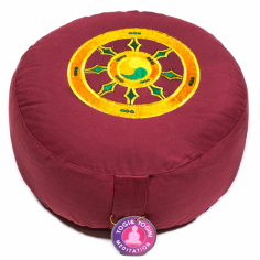 Dharmarad buddhistisch Meditationskissen bordeaux
