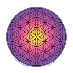 Farbig 11cm Aufkleber Blume des Lebens