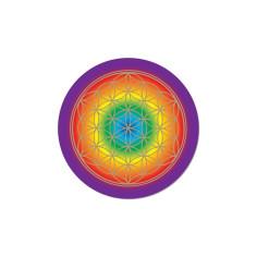 Chakra 7,5 cm Aufkleber Blume des Lebens