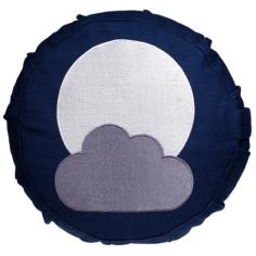 Mond Meditationskissen für Kinder blau