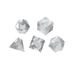 Bergkristall 2cm Platonische Körper