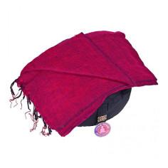 Schal für die Meditation - bordeaux