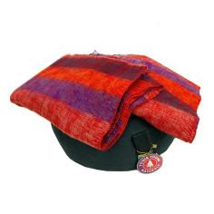 Schal für die Meditation - violett mit Streifen