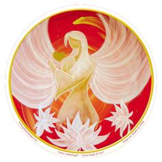 Aufkleber Lotus Liebes Engel