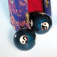 Qi Gong Kugeln 40mm Yin und Yang blau