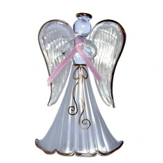Glasengel - Engel der Hoffnung rosa