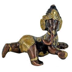 Baby Ganesha Messing & Kupfer