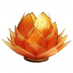 Teelichthalter Lotus orange