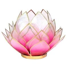 Teelichthalter Lotus rosa