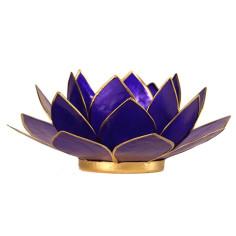 Teelichthalter Chakra Lotus gold indigo