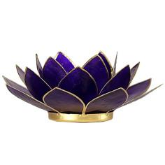 Teelichthalter Chakra Lotus gold violett