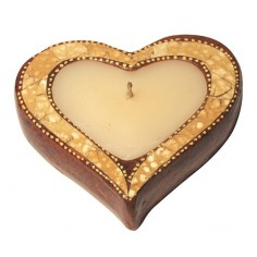 Teelichthalter Herz Terracotta