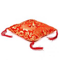 Kissen für Klangschale - rot 18 cm