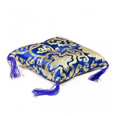 Kissen für Klangschale - blau 14 cm