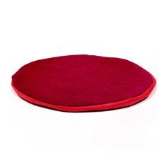 Kissen für Klangschale flach rund 15 cm - rot