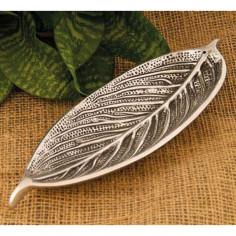 Blatthalter Weissmetall silber
