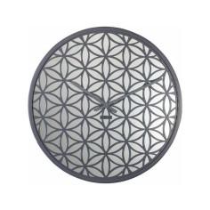 Uhr NeXtime Blume des Lebens grau