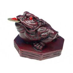 Feng Shui Frosch Glücksbringer rot