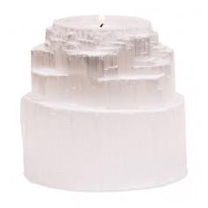Selenit Teelichthalter Göttlicher Wasserfall