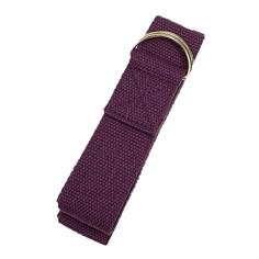 Yogagurt mit D-Ring Schnalle - violett