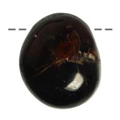 Granat Trommelstein gebohrt