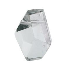 Anhänger Bergkristall facettiert gebohrt