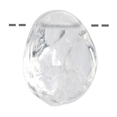 Kraftsteinanhänger aus Bergkristall