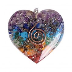 Orgon Anhänger Herz multicolor