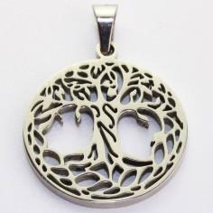 Edelstahl-Anhänger Baum des Lebens