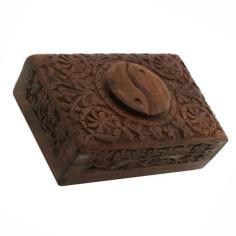 Schmuckdose Yin Yang Holzschnitzerei